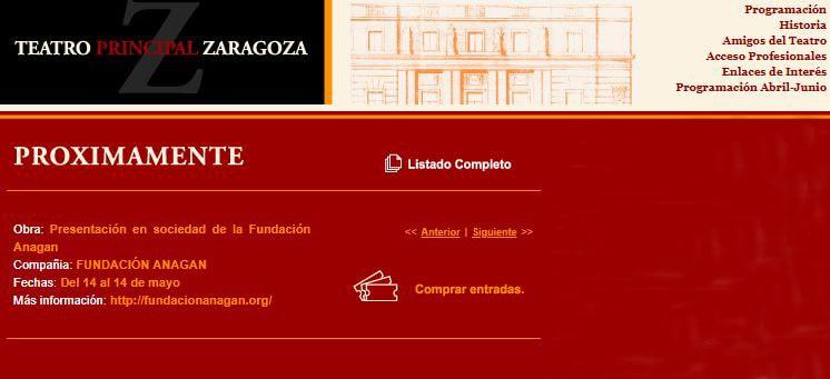 Presentación Fundación Anagan en el Teatro Principal